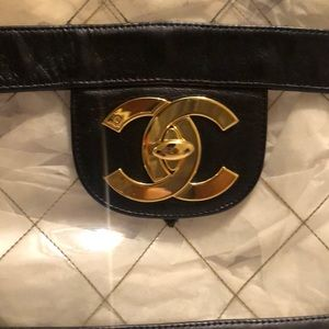 "CHANEL Vintage Authentic ""Naked"" maxi flap bag"